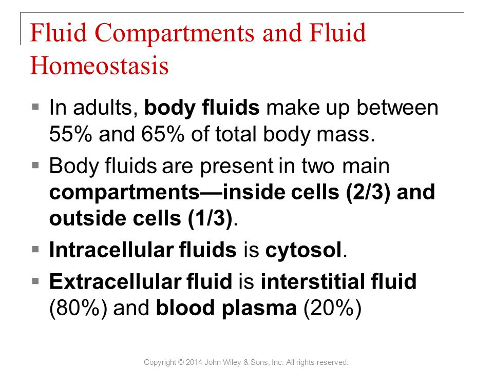 Electrolytes in Body Fluids Copyright © 2014 John Wiley & Sons, Inc. All rights reserved.