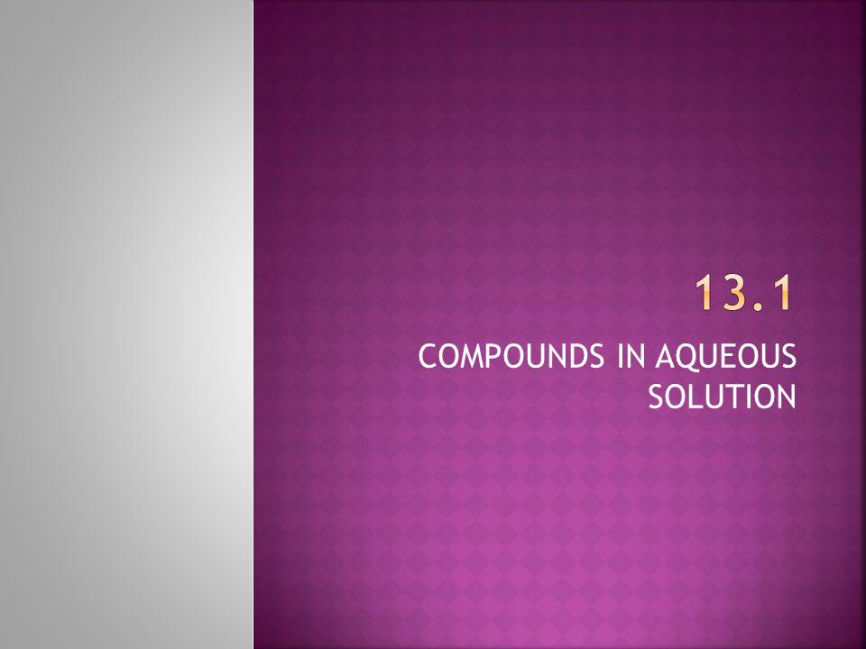 COMPOUNDS IN AQUEOUS SOLUTION