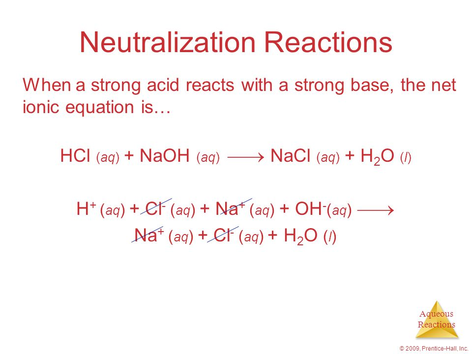 Aqueous Reactions © 2009, Prentice-Hall, Inc.