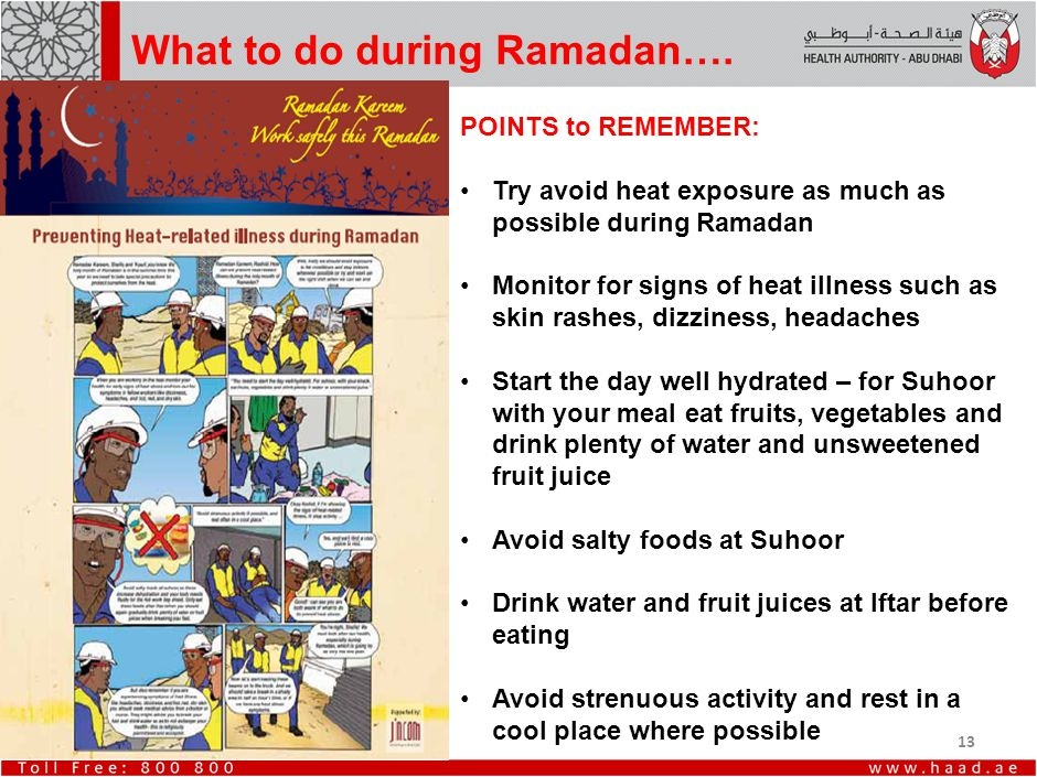 13 What to do during Ramadan….
