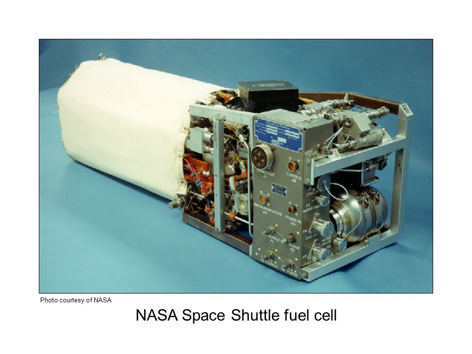 NASA Space Shuttle fuel cell Photo courtesy of NASA