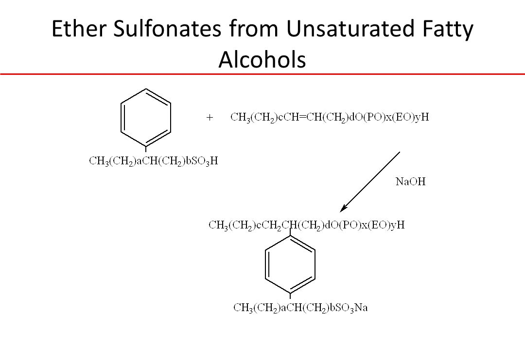 Ether Sulfonates from Unsaturated Fatty Alcohols