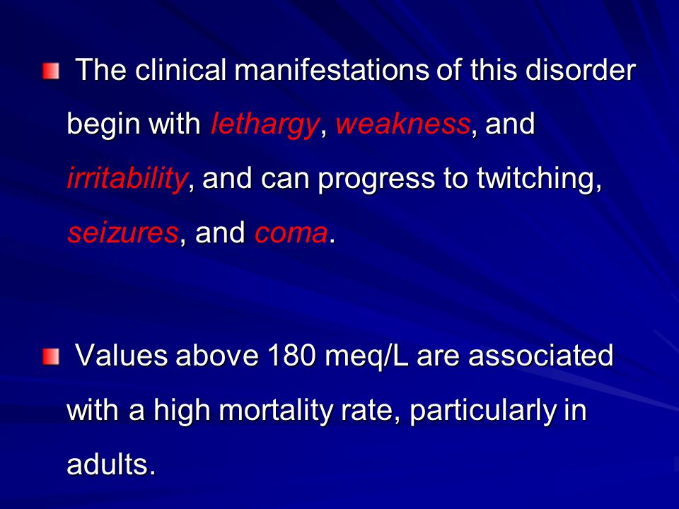 The clinical manifestations of this disorder begin with,, and, and can progress to twitching,, and. The clinical manifestations of this disorder begin