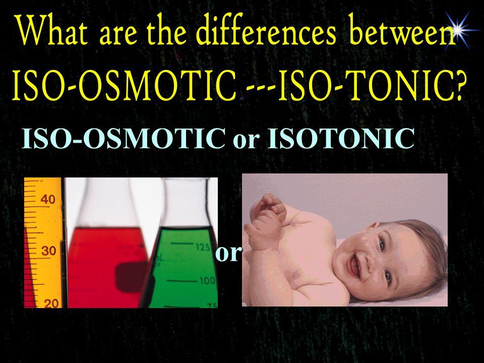 ISO-OSMOTIC or ISOTONIC or