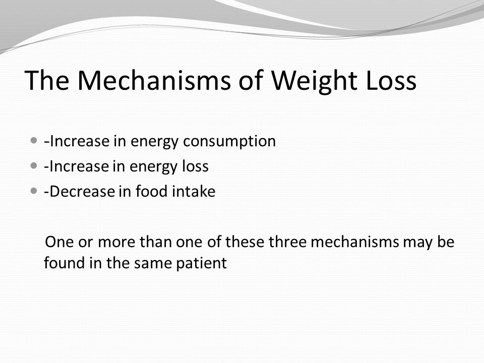 The Occasional Causes of Weight Loss A.