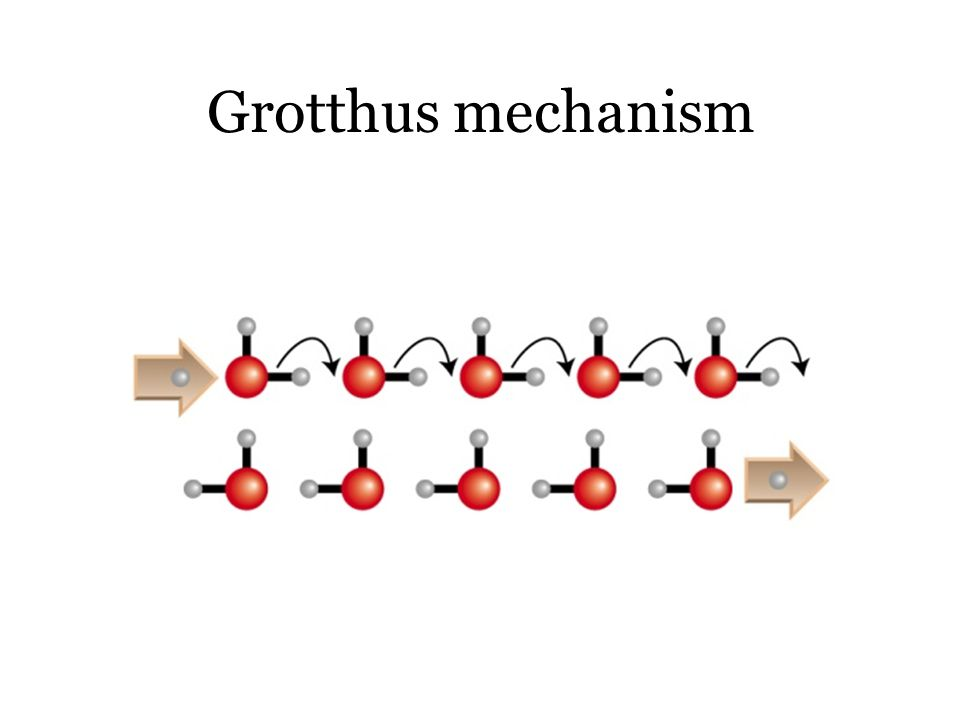 Grotthus mechanism