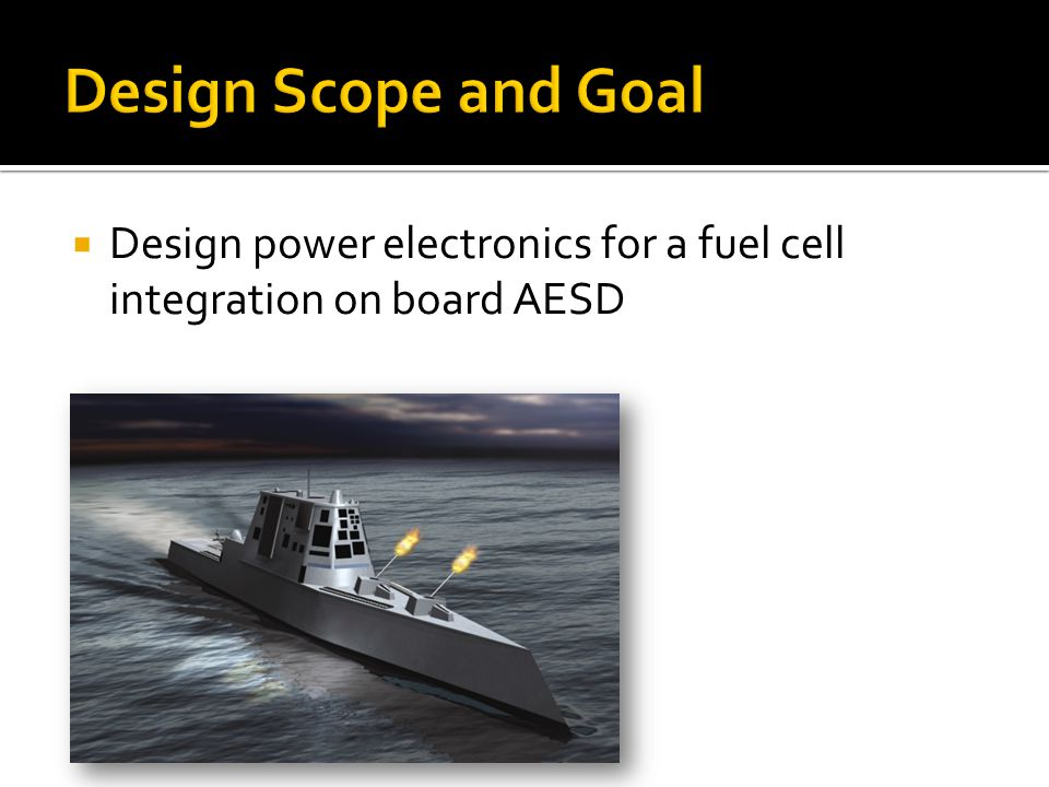  Design power electronics for a fuel cell integration on board AESD
