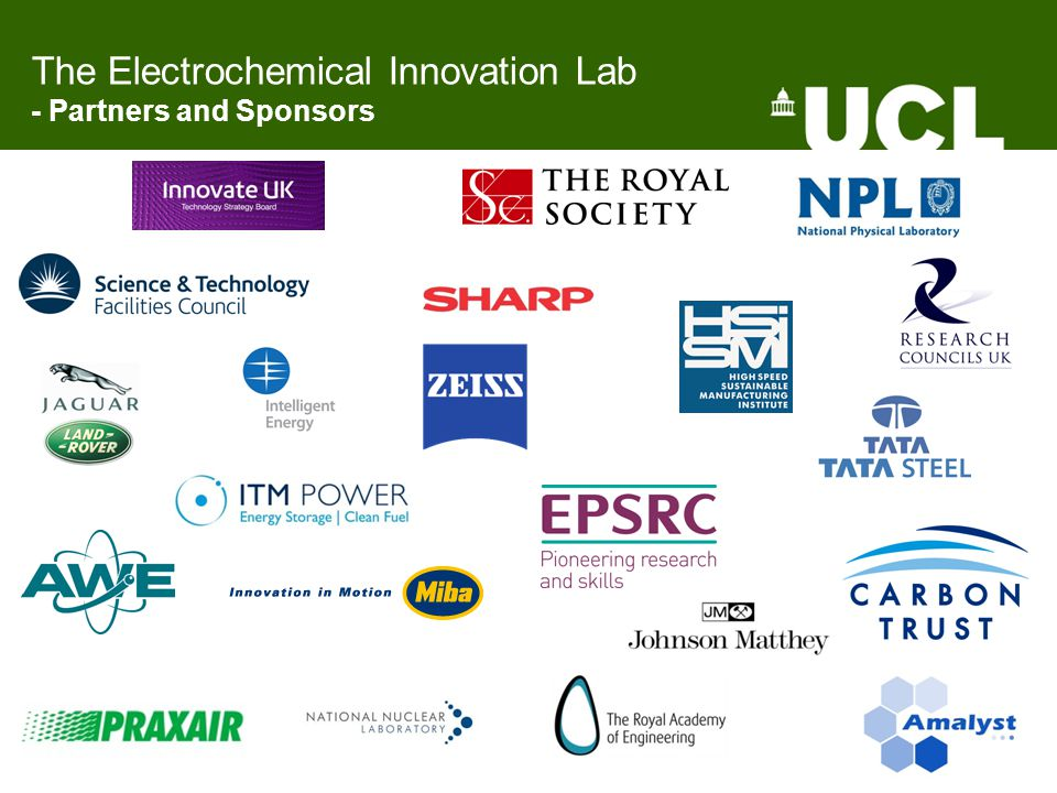 The Electrochemical Innovation Lab - Partners and Sponsors