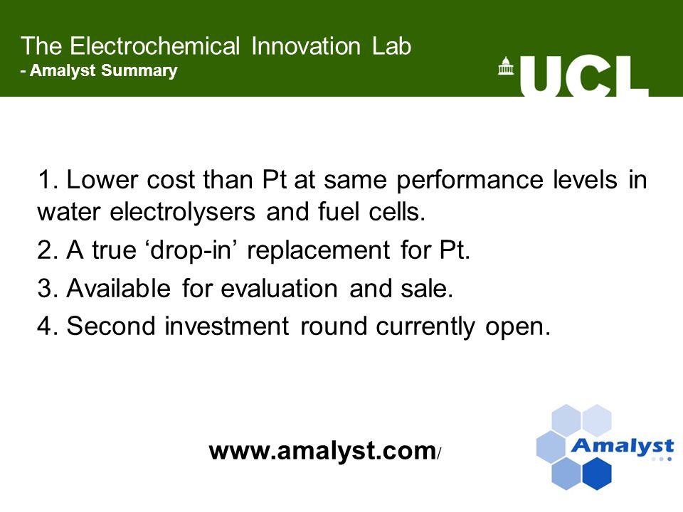 The Electrochemical Innovation Lab - Amalyst Summary 1.