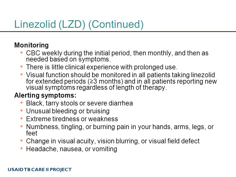 USAID TB CARE II PROJECT High-dose isoniazid (H) GROUP 5 (AT HIGH DOSES) Dosing 16 to 18 mg/kg per day, typically 600 mg to 1200 mg per week Some clinicians give it three times a week instead of daily at the 16 to 18 mg/kg dosing