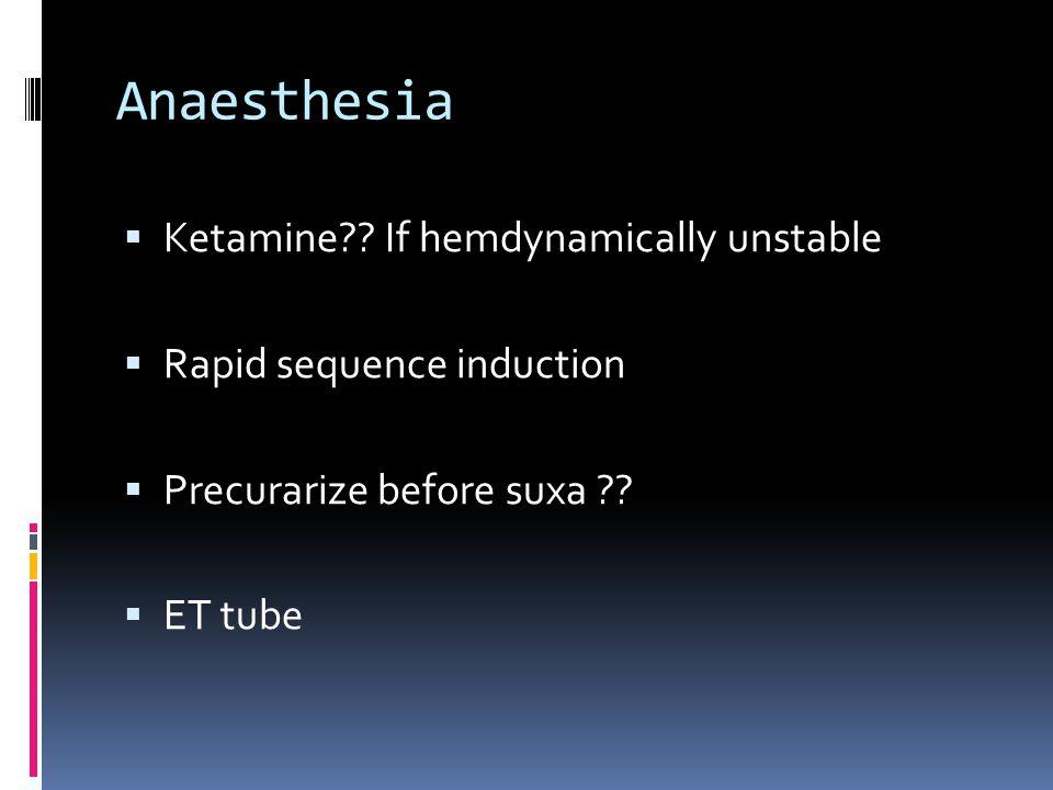 Anaesthesia  Ketamine .