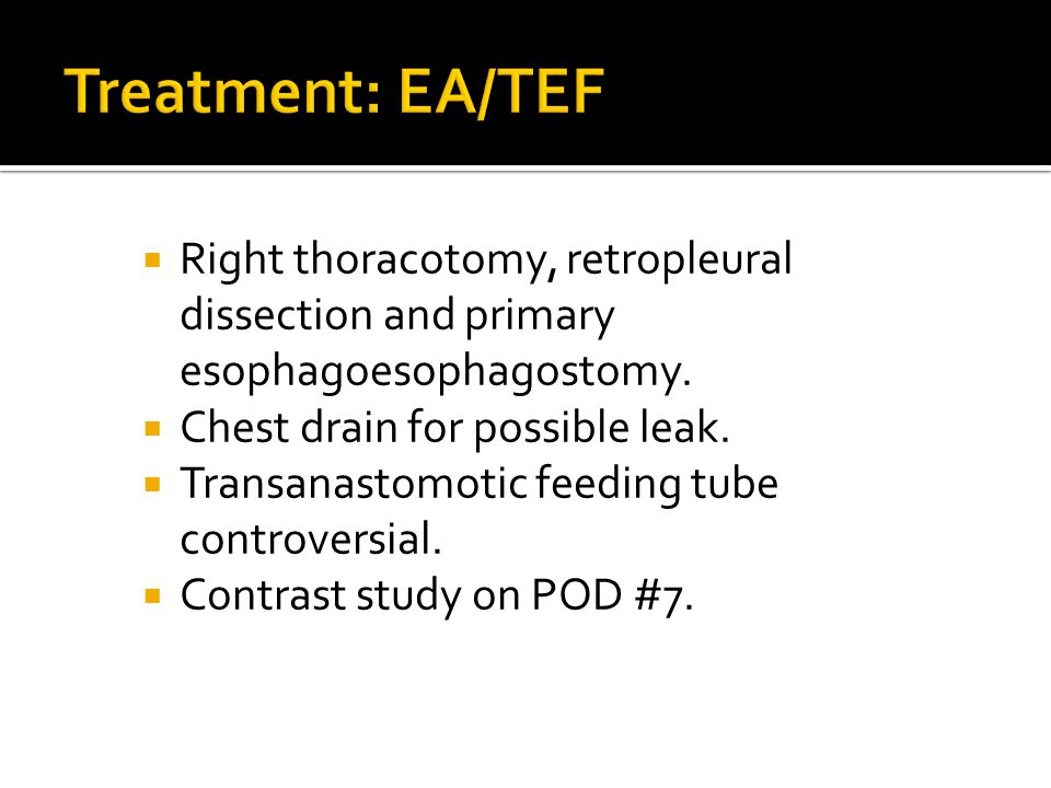  Right thoracotomy, retropleural dissection and primary esophagoesophagostomy.