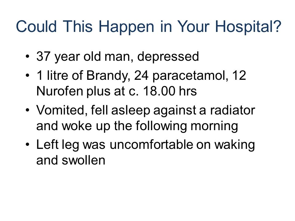 Could This Happen in Your Hospital.