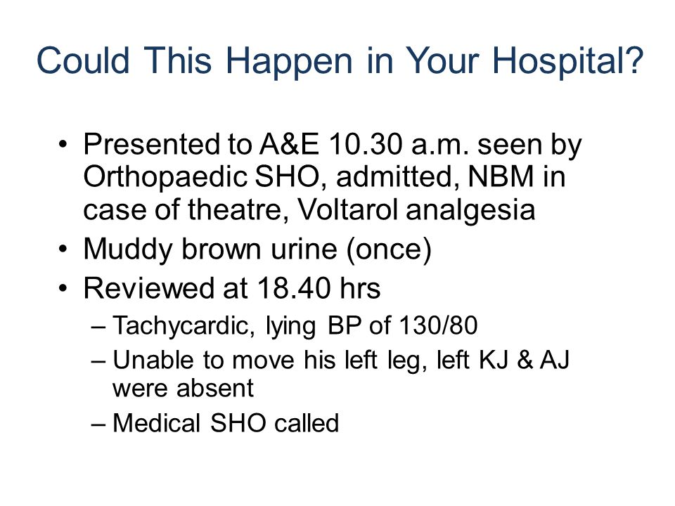 Presented to A&E 10.30 a.m.