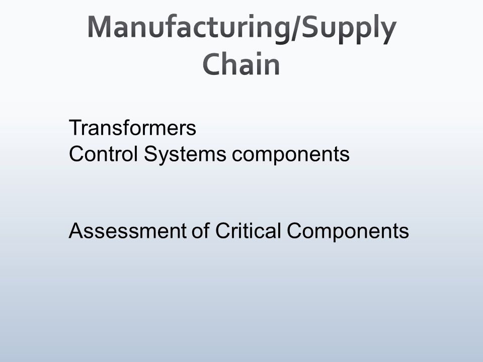 Transformers Control Systems components Assessment of Critical Components