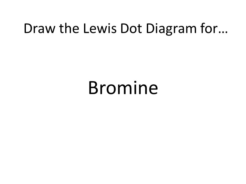 Bromine Draw the Lewis Dot Diagram for…