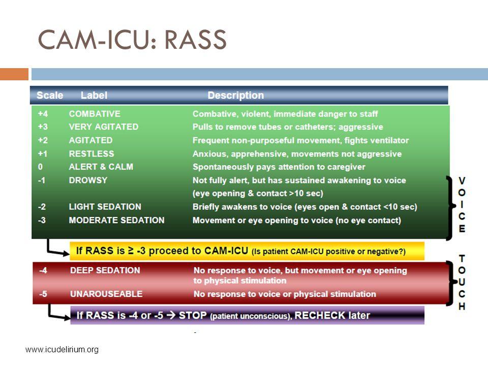 CAM-ICU: RASS www.icudelirium.org