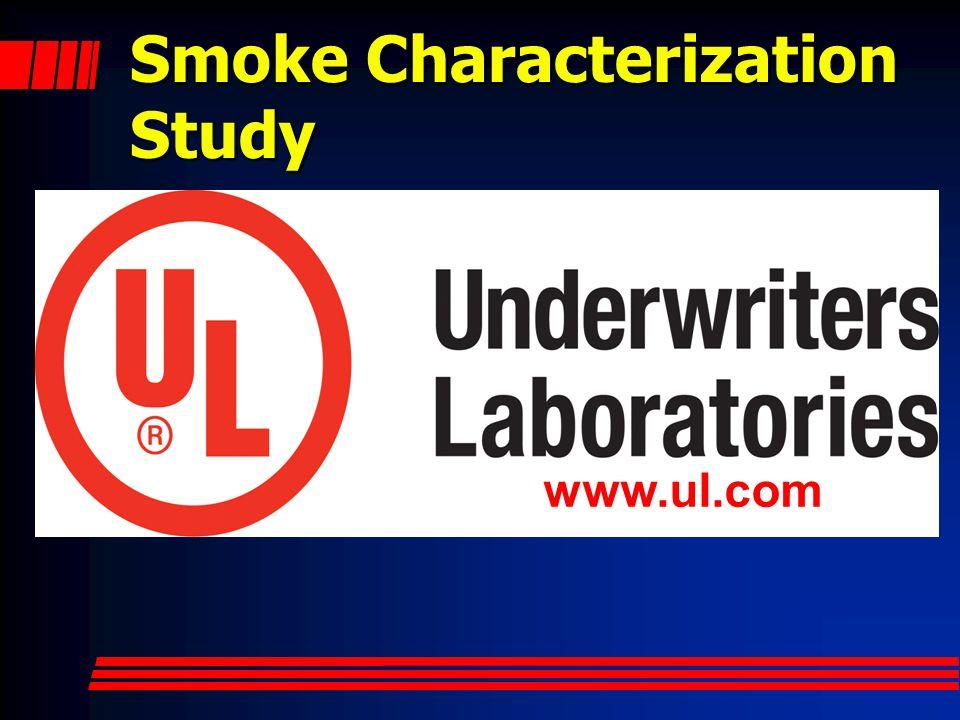 Smoke Characterization Study www.ul.com