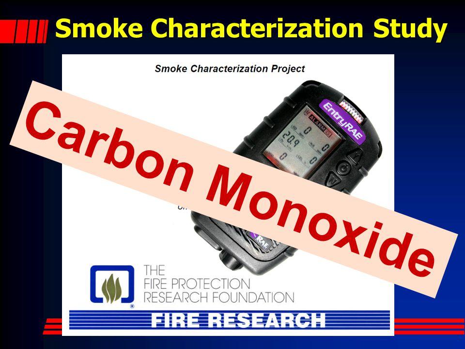 Smoke Characterization Study Carbon Monoxide
