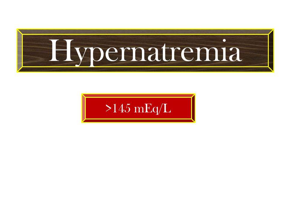 Hypernatremia >145 mEq/L