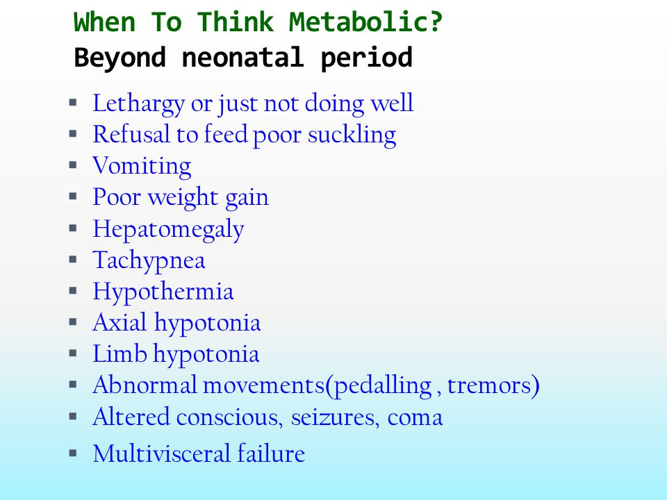 When to think metabolic.