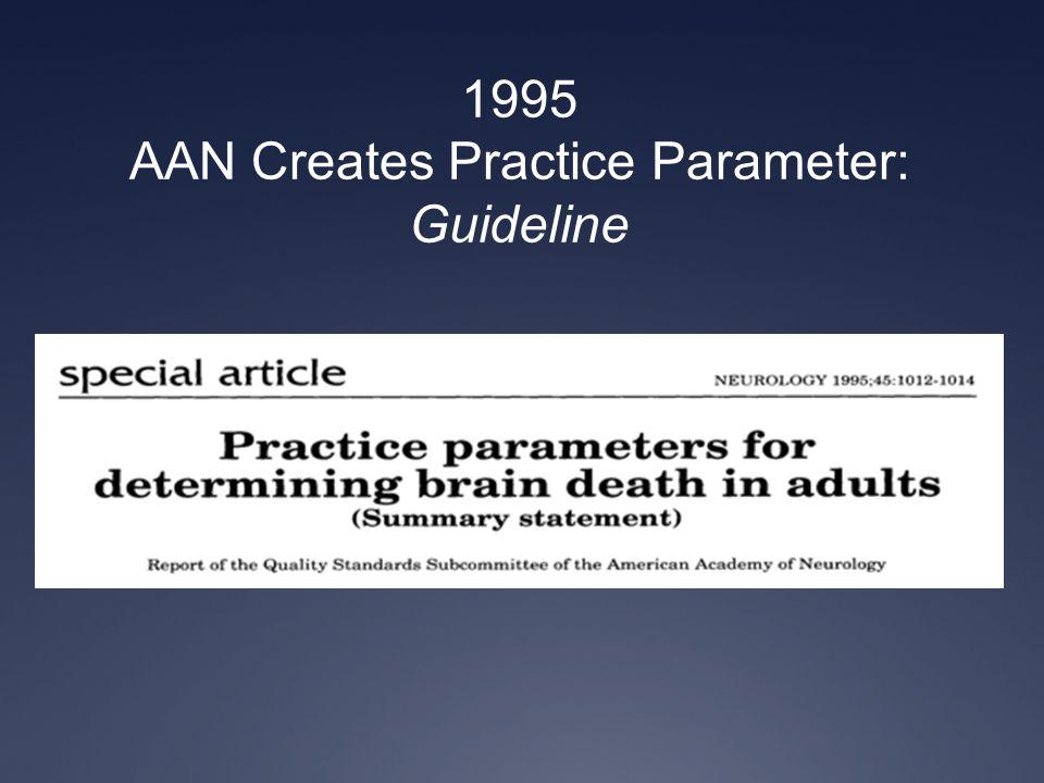 1995 AAN Creates Practice Parameter: Guideline