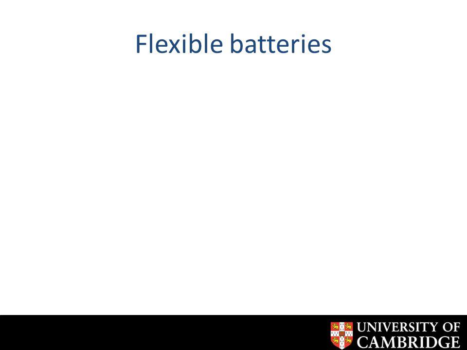 Flexible batteries
