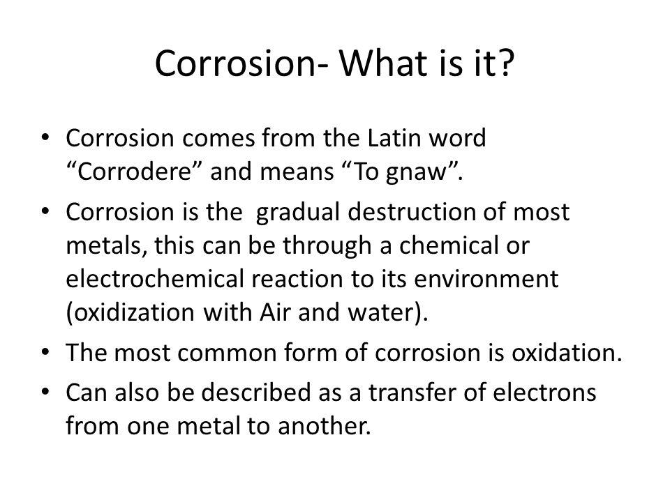 Corrosion- How it Happens.