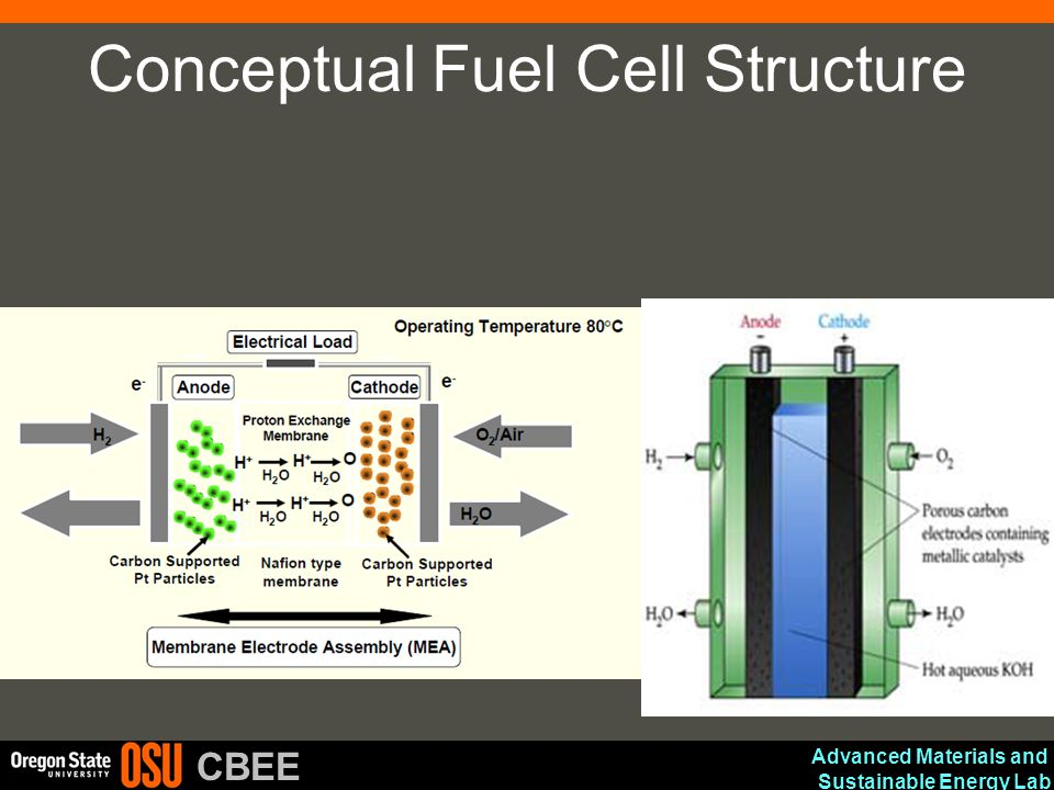 Advanced Materials and Sustainable Energy Lab CBEE Conceptual Fuel Cell Structure