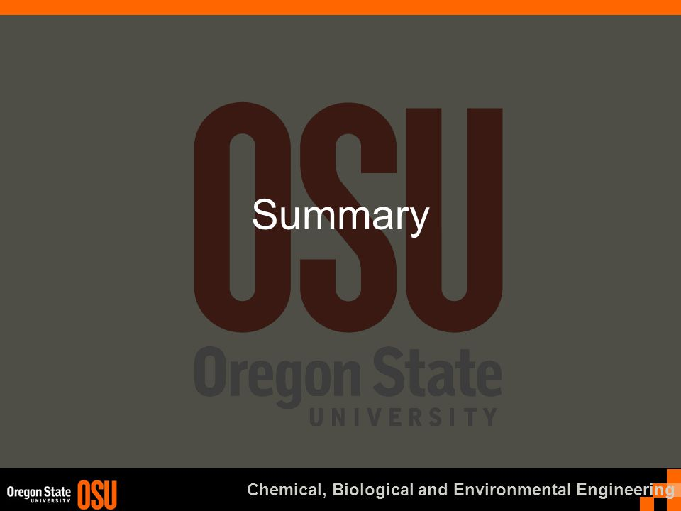 Chemical, Biological and Environmental Engineering Summary