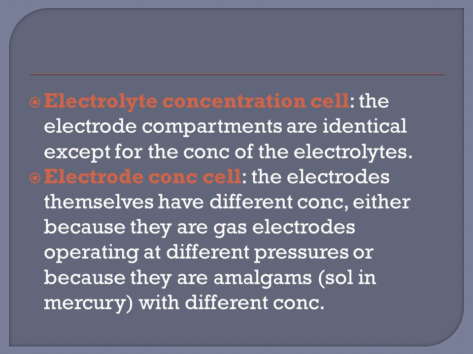  A cell in which the overall cell reaction has not reached chemical equilibrium can do electrical work as the reaction drives electrons through an external circuit.