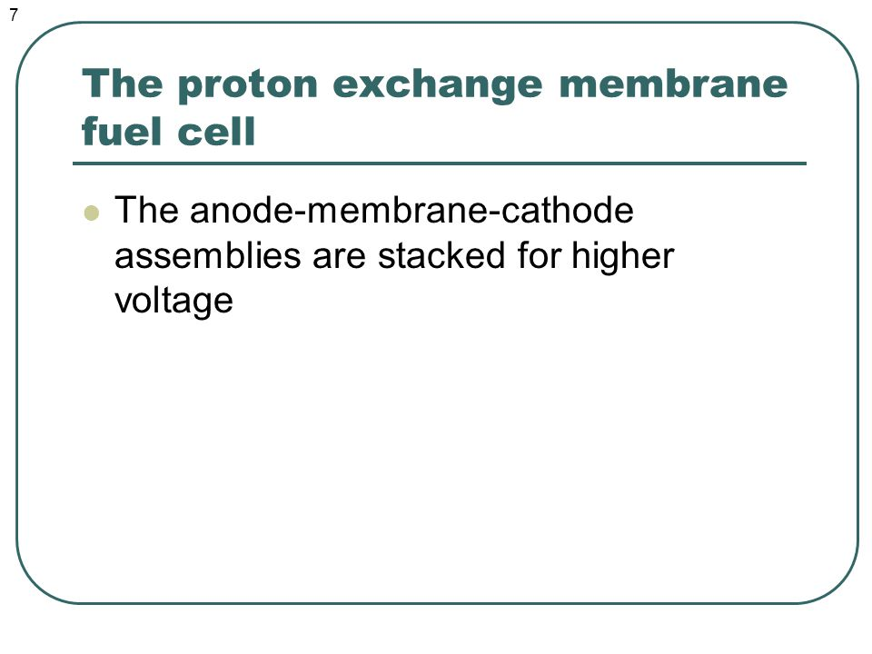 The PEM fuel cell 8