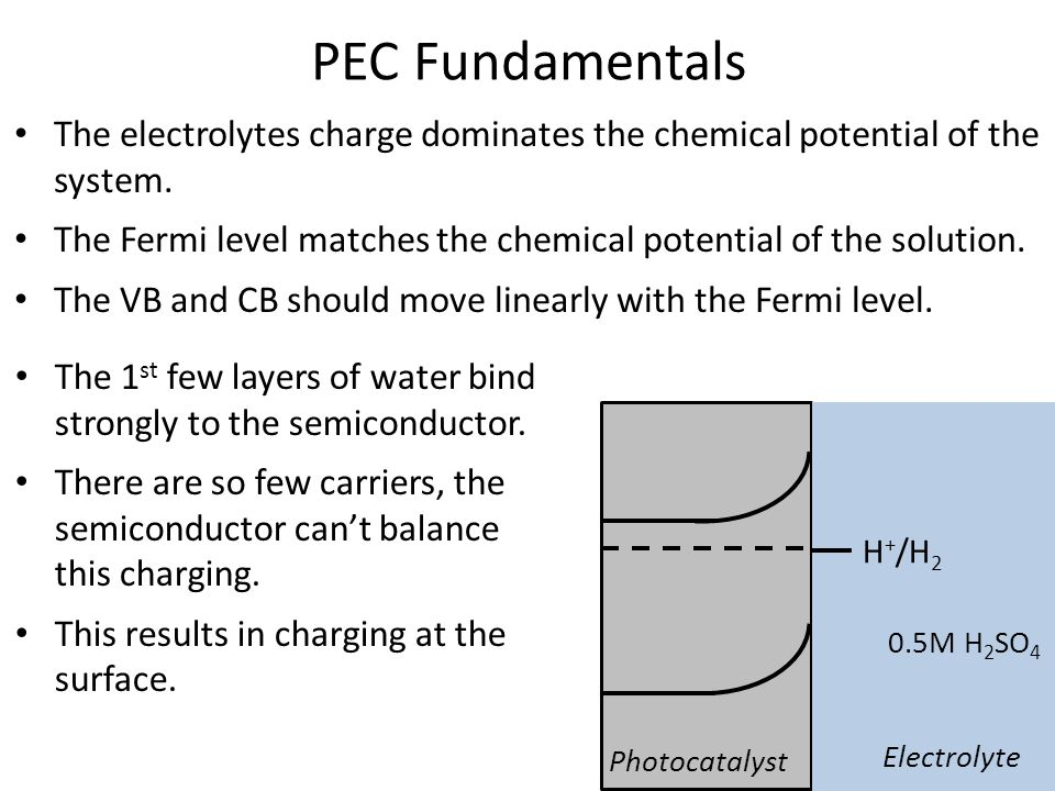 The electrolytes charge dominates the chemical potential of the system.