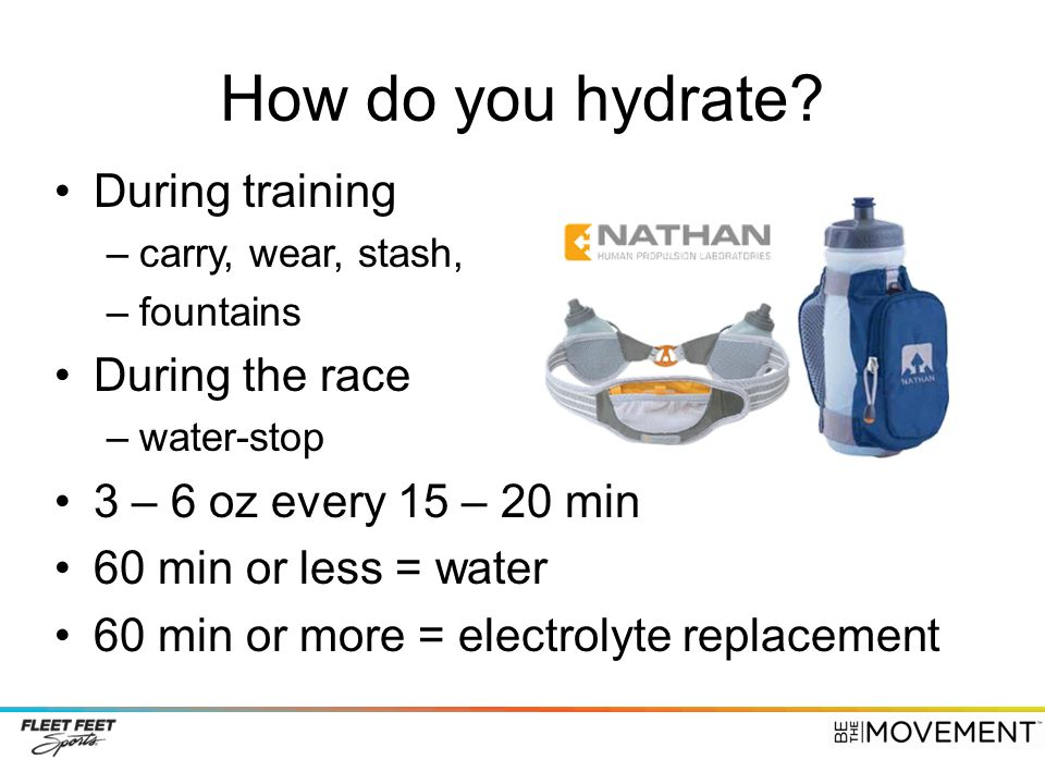 How do you hydrate.