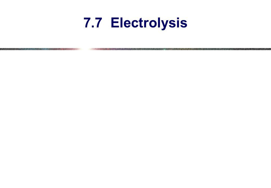 7.7 Electrolysis