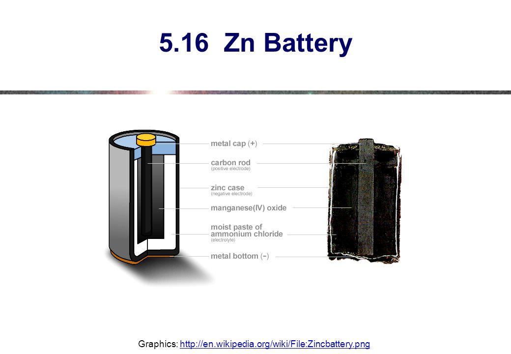 5.16 Zn Battery Graphics: http://en.wikipedia.org/wiki/File:Zincbattery.pnghttp://en.wikipedia.org/wiki/File:Zincbattery.png