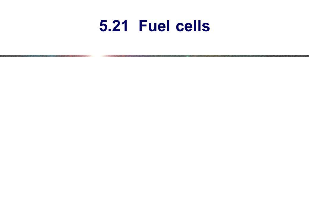 5.21 Fuel cells