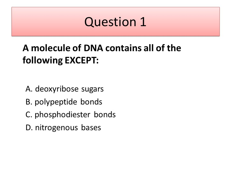 Question 20 Which of the following is LEAST likely to increase the breathing rate of an individual.