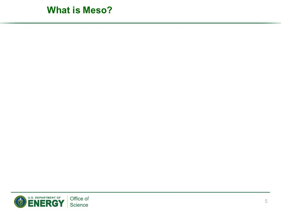 What is Meso? 5