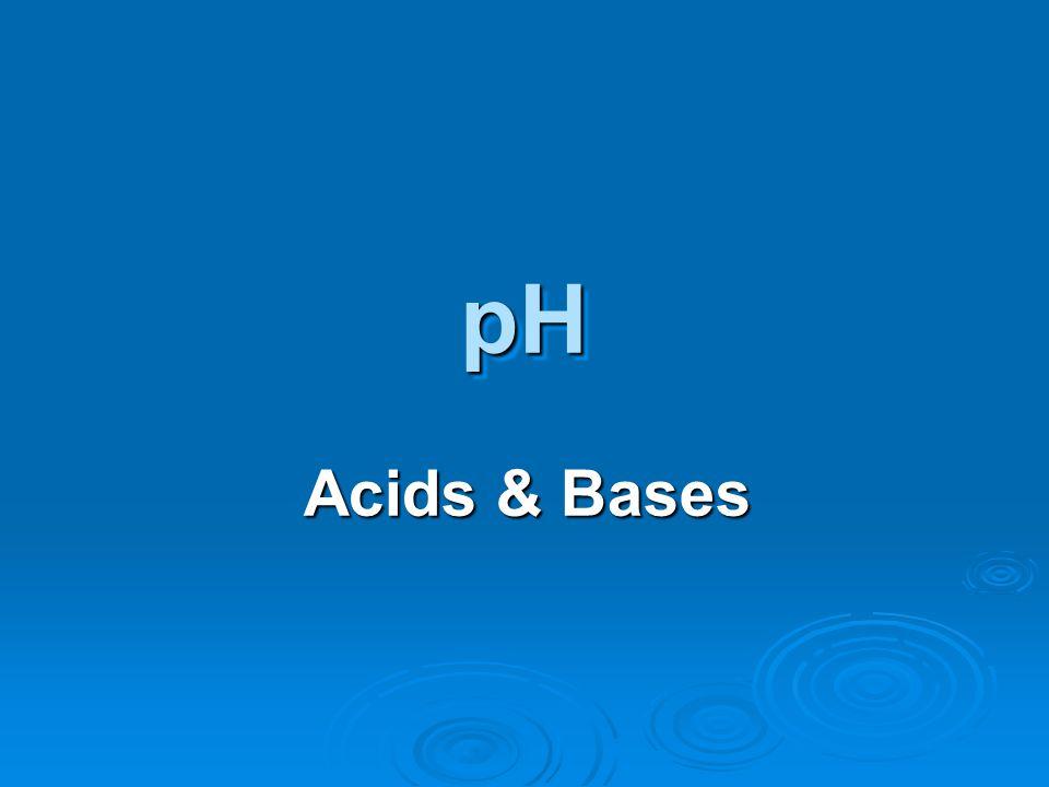 Acids & Bases pHpH