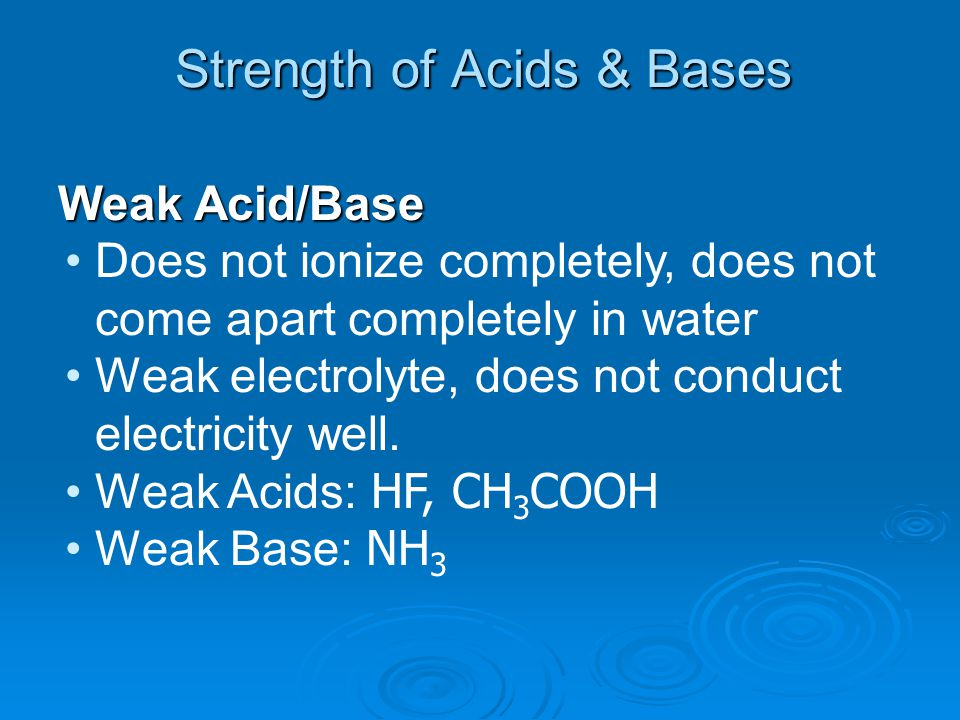 Warning Never use taste in a lab setting to identify acids or bases unless told to by your science teacher.