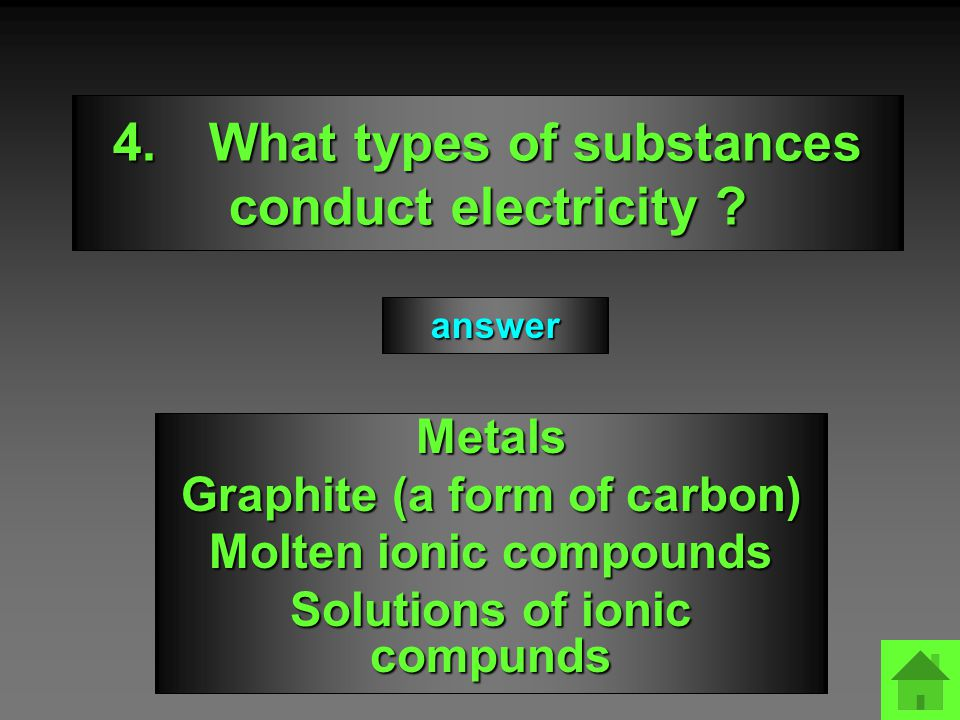 mmcl2003 4.What types of substances conduct electricity .