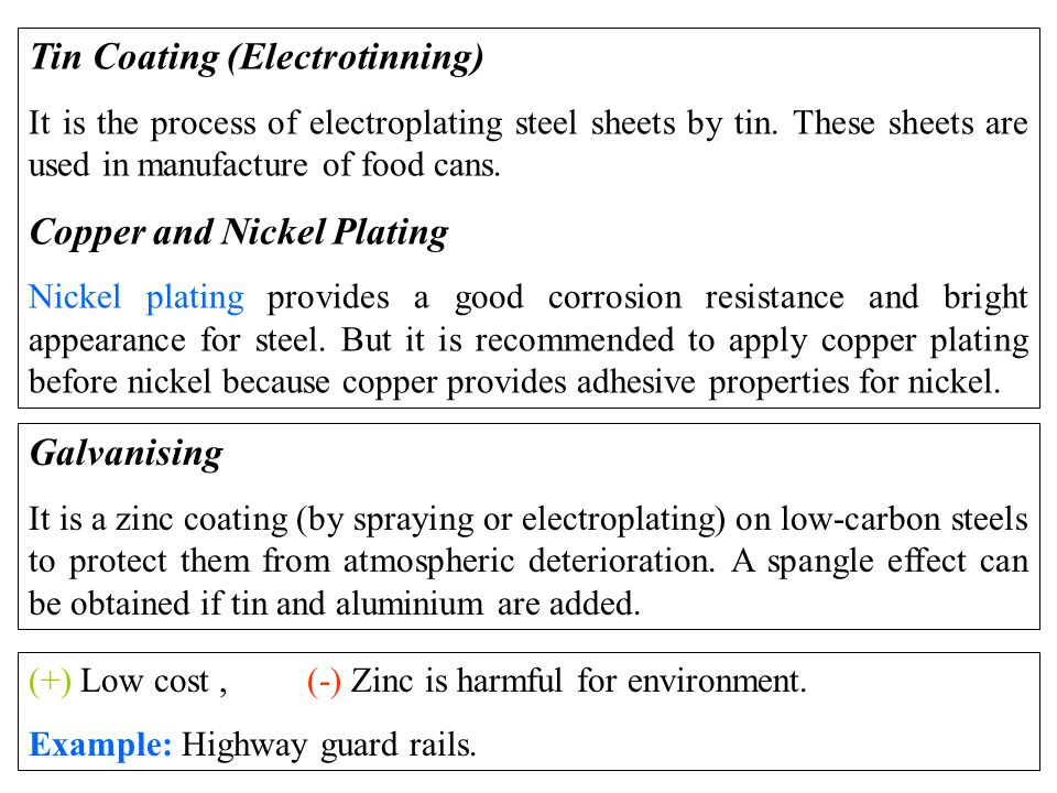 Tin Coating (Electrotinning) It is the process of electroplating steel sheets by tin.