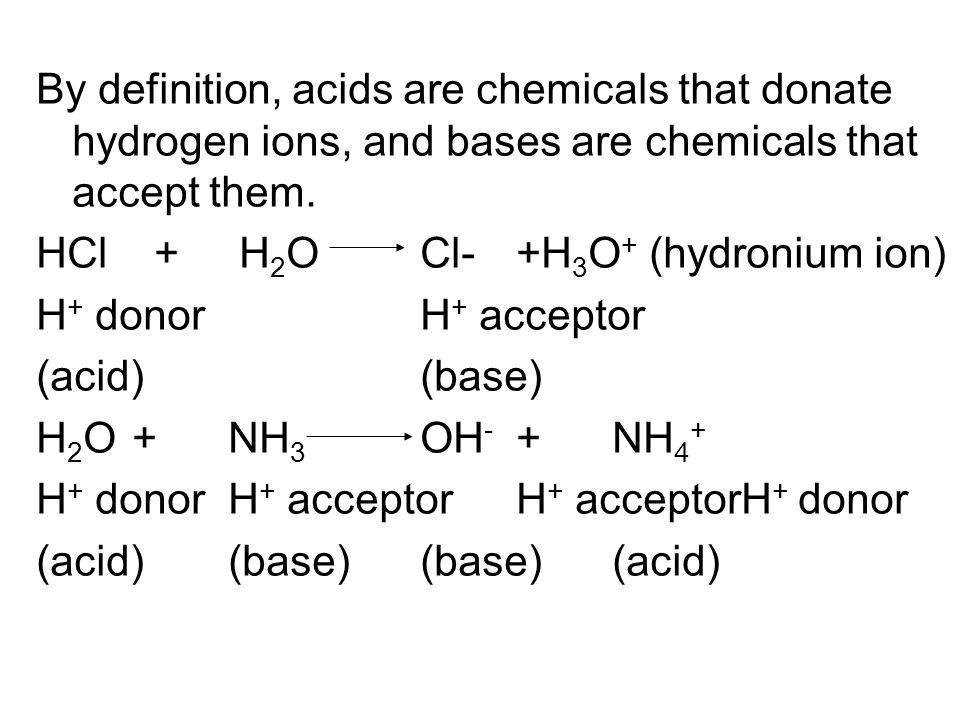 A salt is the product of an acid- base reaction (neutralization 中和 ) Acid Base Salt Water HCN + NaOH NaCN + H 2 O Hydrogen Sodium Sodium Cyanide Hydroxide Cyanide HNO 3 + KOH KNO 3 + H 2 O Nitric Potassium Potassium acid Hydroxide nitrate 2HCl + Ca(OH) 2 CaCl 2 + 2H 2 O Hydrogen Calcium Calcium Chloride Hydroxide chloride HF + NaOH NaF + H 2 O Hydrogen Sodium Sodium fluoride Hydroxide fluoride Table10.1 acid-base reactions and the salts formed