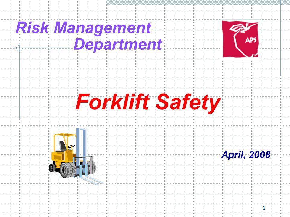 12 Forklift Safety Accident Statistics  Forklift overturned: 24%  Struck by falling loads: 17%  Struck by other truck: 14%  Fall from forklift: 14%  Crushed by forklift: 11%  Ran off loading dock: 8%  Worker making repairs on forklift: 6%