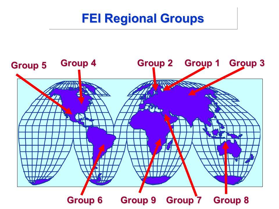 Group 2 Group 4 Group 6 Group 5 Group 8 Group 9 Group 3 Group 1 Group 7 FEI Regional Groups