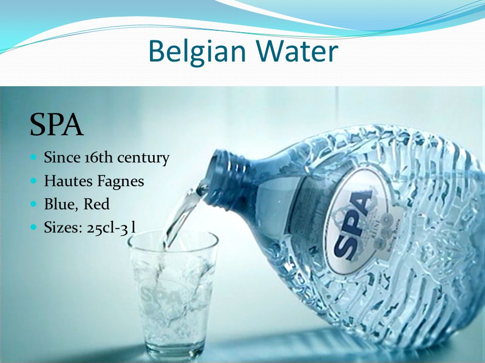 Belgian Water SPA Since 16th century Hautes Fagnes Blue, Red Sizes: 25cl-3 l