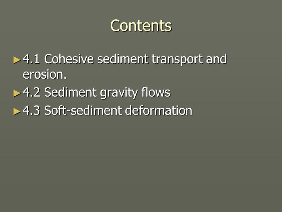 4.1 Cohesive sediments