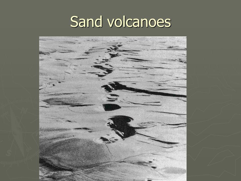 Sand volcanoes