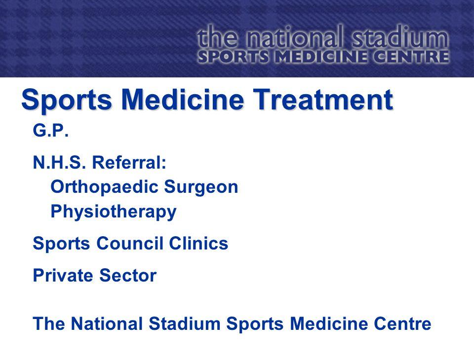 Sports Medicine Treatment G.P. N.H.S.